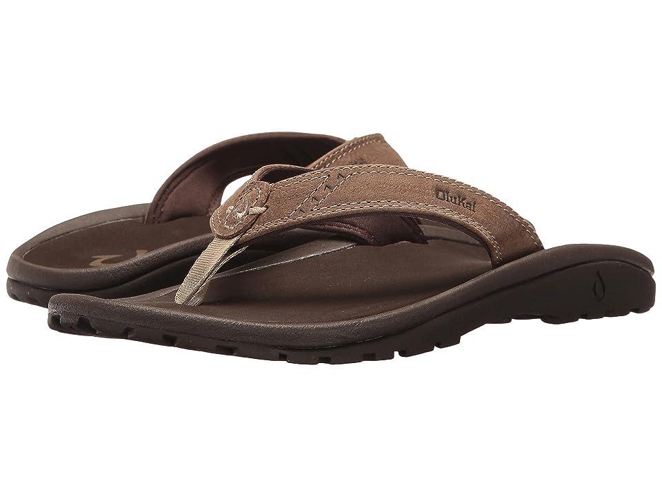 OluKai Kids Nui (Toddler/Little Kid/Big Kid) (Clay/Dark Java) Boys Shoes
