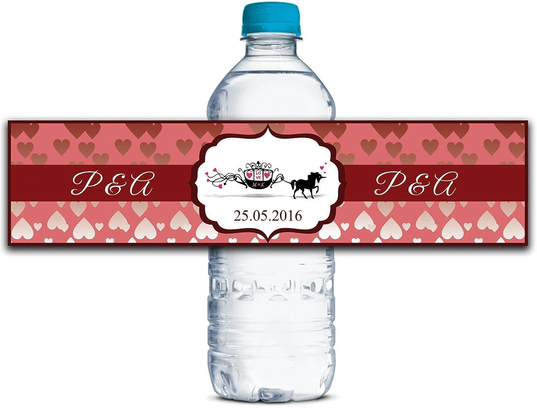 Personalisierte Personalisierte Personalisierte Wasserflasche Etiketten Selbstklebende wasserdichte Kundenspezifische Hochzeits-Aufkleber 8  x 2  Zoll - 50 Etiketten B01A0W422O  | Lassen Sie unsere Produkte in die Welt gehen  7f9746