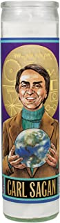 The Unemployed Philosophers Guild Carl Sagan Secular Saint Candle - 8.5 Inch Glass Prayer Votive - Made in The USA