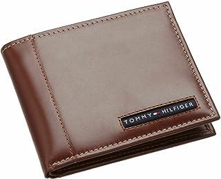 محفظة كامبردج للرجال من تومي هيلفيغر/لون بيج داكن