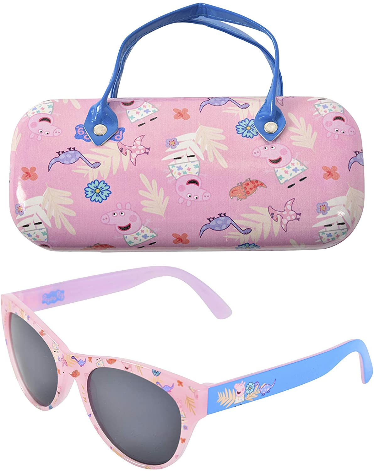 Peppa Pig Kids Sunglasses with Matching Glasses Case and UV...