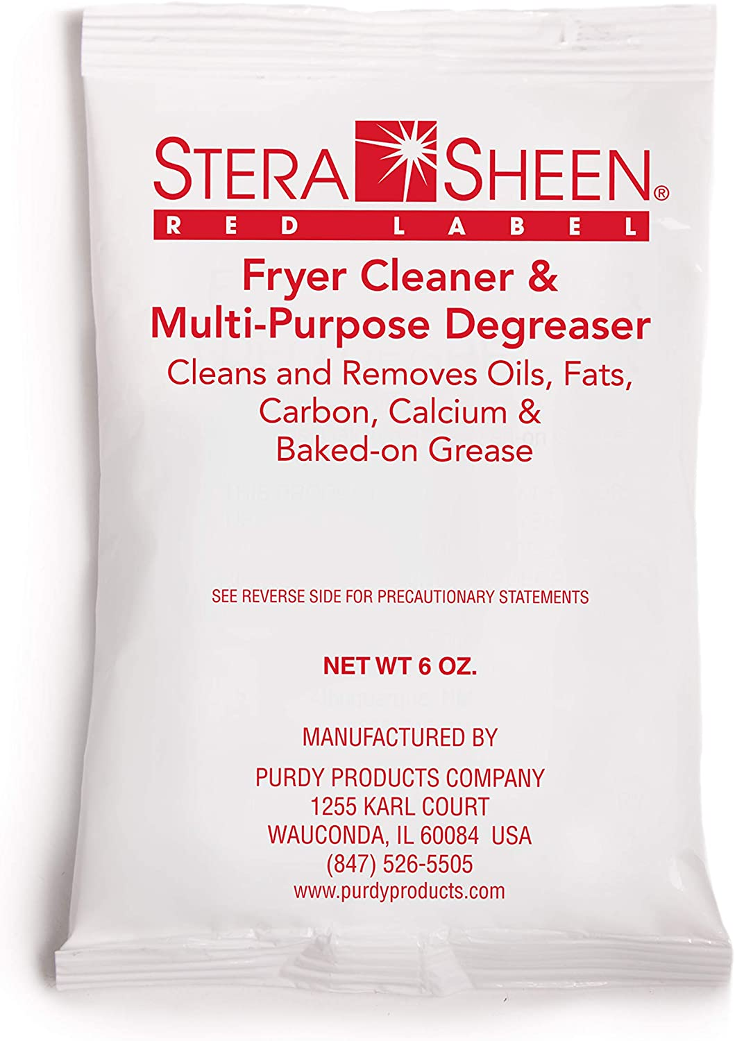 Stera-Sheen Red Label French Fryer and Excellent Cleaner Filter Direct stock discount - 6 oz Pac