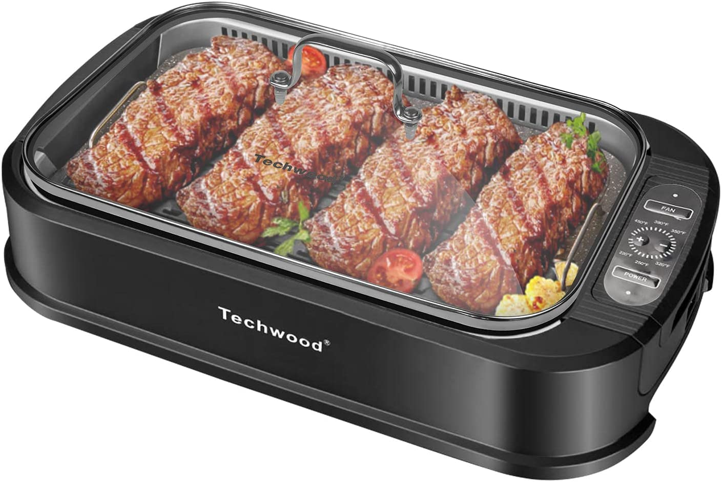 Techwood 1500W Electric Indoor Smokeless Grill $62.49 Coupon