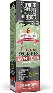 My Magic Mud Activated Charcoal Fluoride Free Whitening Toothpaste Cinnamon Clove 4 oz (113 g)