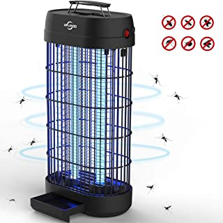 Viflykoo Lámpara Antimosquitos,UV Lámpara Anti Mosquitos Destructora de Insectos eléctrica 20W Sin químicos tóxicos,Trampas para Insectos Matamoscas Area efectiva 100㎡ para Interior y Jardin