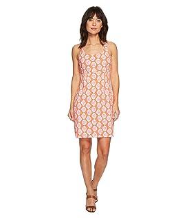Wood Blockin Sleeveless Short Dress