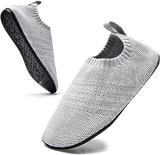 Sosenfer Chaussures Homme Femme Maison Pantoufle pour Intérieur Semelle Antidérapante Slip-on Slippers Unisex