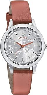Sonata Floral Folk Art Analog Silver Dial Women's Watch-87019SL11