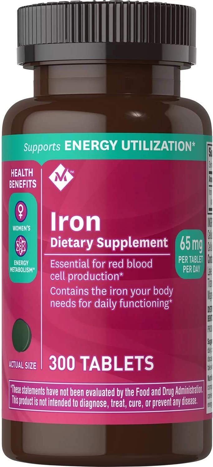 Member's Mark 65 mg Iron Supplement Omaha Mall 300 Dietary New Free Shipping ct.