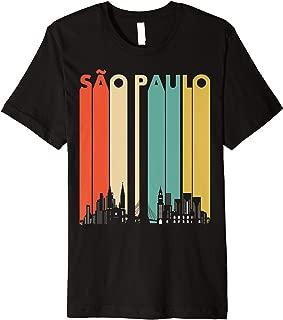 Vintage Retro Sao Paulo skyline silhouette design Premium T-Shirt