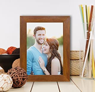 Art Street Synthetic Brown Wall/Table Photo Frame (Picture Size 5 inches X 7 inches, with Stand)