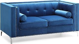 Glory Furniture Capua livingroom, 2 Seater Loveseat, NAVY BLUE