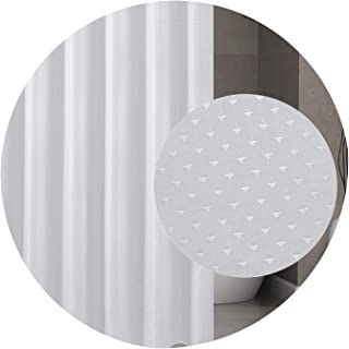 Diamond Thick Bathroom Curtain Waterproof Polyester Strip White Shower Curtains Hooks Mildew Thickening Bathroom Hotel #30gy,China
