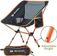 Campingstuhl im Freien mit Transporttasche zum Angeln Wandern Reisen Tentock Leicht Klappstuhl mit R/ückenkissen Verstellbare H/öhe