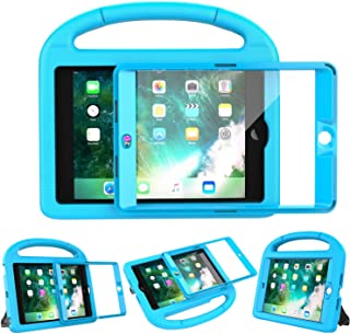 LEDNICEKER Kids Case Built-in Screen Protector for iPad Mini 1 2 3 - Shockproof Handle Kidproof Friendly Foldable Stand Child Case for iPad Mini 1st 2nd 3rd Generation - Blue