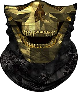 Obacle Motorcycle Face Mask Sun UV Dust Wind Protection Durable Tube Mask Seamless Bandana Skeleton Face Mask for Men Women Bike Riding Cycling Biker Fishing Hunting Outdoor Festival Many Pattern