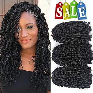 Liyate 3 Packs Spring Twist Crochet Braids Hair 8 Inch Jamaican Bounce Short Fluffy Afro Spring Twist Braiding Hair Synthetic Hair Extensions (2#)
