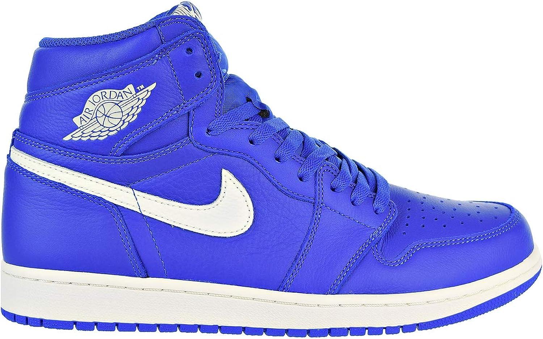 Jordan Nike Men's Air 1 Retro High OG Hyper Royal Sail 555088-401 (Size  13)