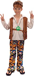 Bristol Novelty CC621 Hippy Boy Costume, Medium, Approx Age 5 - 7 Years, Hippy Boy (M)