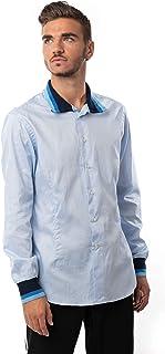 Morgan Visioli Fashion Camisa Hombre Azul Claro