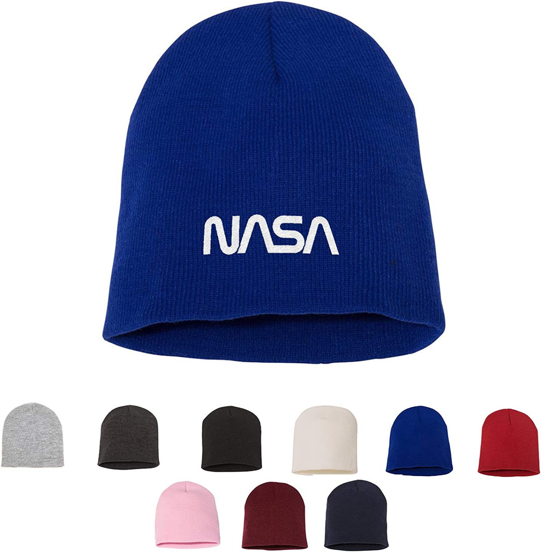 Tech Design Retro Washington Mall Genuine Free Shipping NASA Logo Knit Bea Embroidered Winter Hat Warm