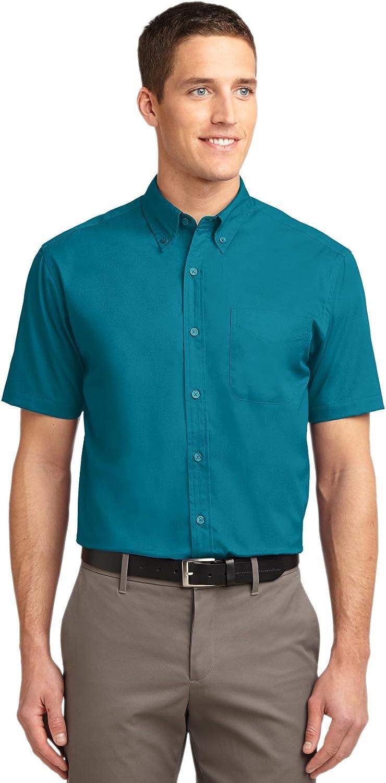 Port Authority Tall Short Sleeve Easy Care Shirt. TLS508 Teal Green LT