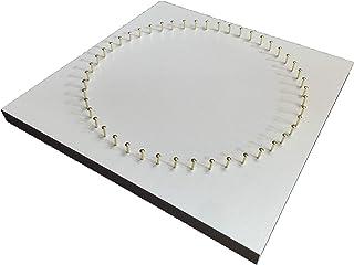 糸かけ曼荼羅の制作用48ピン板(20cm角・ホワイト)ピン打ち板 糸かけアート マンダラアート