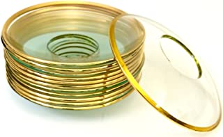 Biedermann & Sons Bobeches Glass with Rim (2 Packs of 2), Clear/Gold