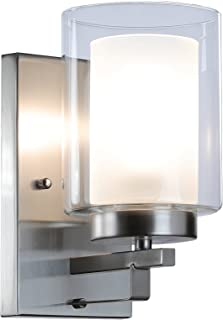 Best single bulb bathroom light fixtures Reviews