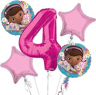 Doc McStuffins Balloon Bouquet 4th Birthday 5 pcs - Party Supplies