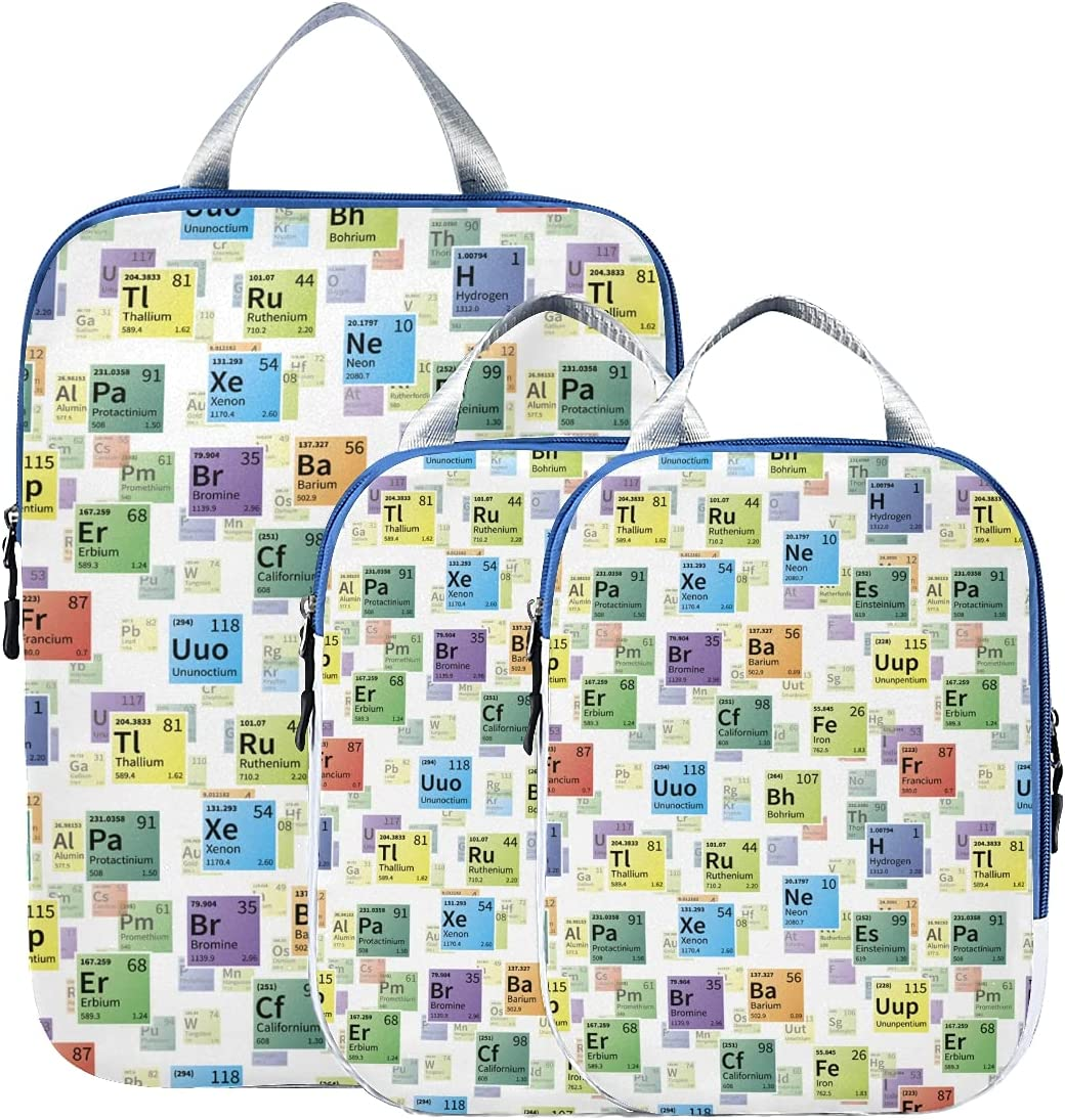 Travel Organizer Reservation Cubes Fashion Periodic Table Chemical Elements NEW