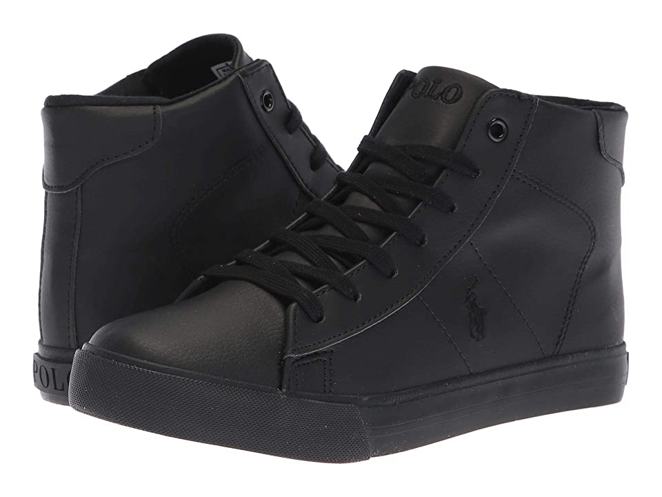 Polo Ralph Lauren Kids Easten Mid (Big Kid) (Triple Black Tumbled) Boy