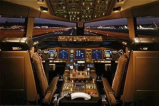 Laminated Boeing 777-200 Flight Deck Airplanes Jet Print Poster 24x36