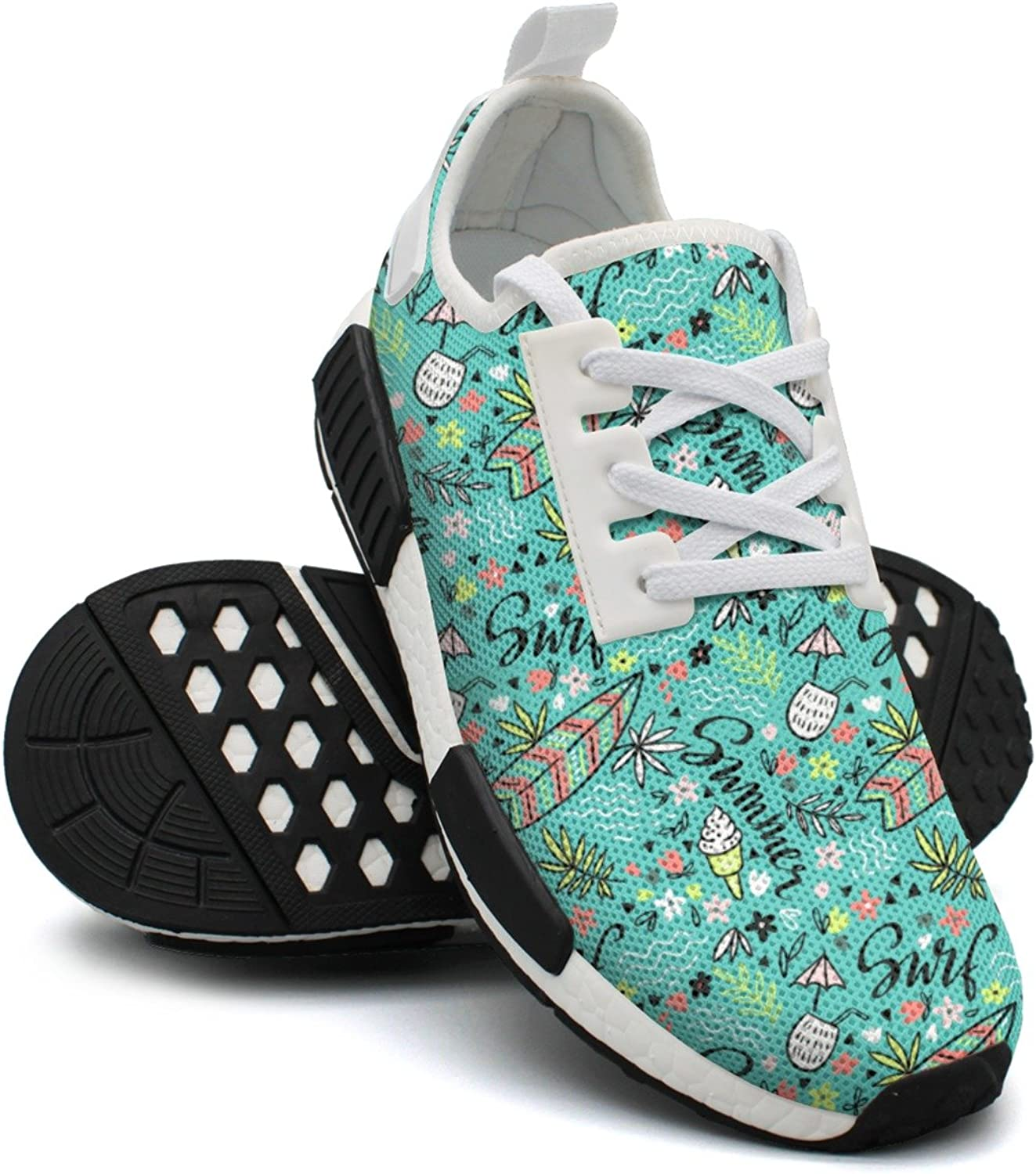Women colorful New Tropical Bright Surfboard Cool Design Running shoes