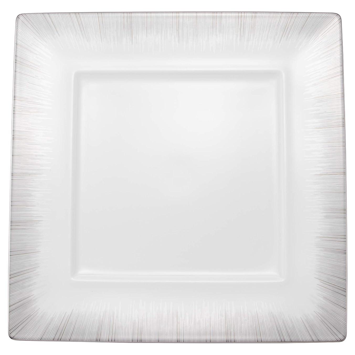 列挙するモナリザトランクNARUMI(ナルミ) プレート 皿 グローイング シルバー 27cm スクエア リム 日本製 51501-5353