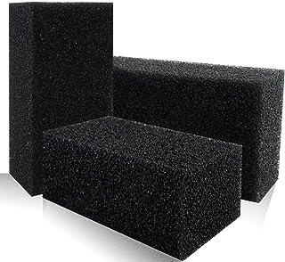 "YG_Oline 3 pcs Aquarium Filter Pads, Black Aquarium Sponge Filter Sponge Open Cell Foam Block Foam Filter Material, 7.5"" x..."