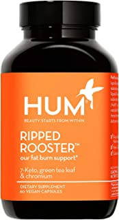 HUM Ripped Rooster - Thermogenic Fat-Burner with 7-Keto, Chromium & Green Tea - Support Weight Loss & Workouts - Non-GMO, ...