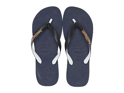 Havaianas Top Mix Flip Flops (Navy Blue/Black) Men