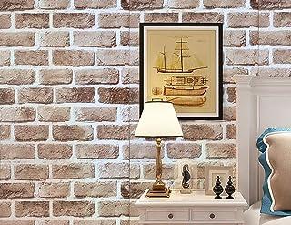 壁紙シール ウォールステッカー レンガ柄 はがせるタイプ 45cm×10m リフォーム ウォールステッカー 防水 (アンテイークブラン)
