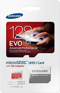 Samsung Memory 128 GB EVO Plus MicroSDXC UHS-I Grade 1 Class 10 Memory Card with SD Adapter