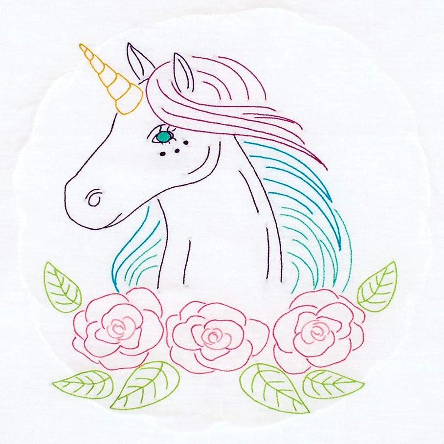Jack Dempsey Needle Art 732708 Unicorn Hand Embroidery, 18