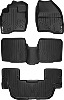 MAXLINER Floor Mats 3 Row Liner Set Black for 2017-2018 Ford Explorer Without 2nd Row Center Console