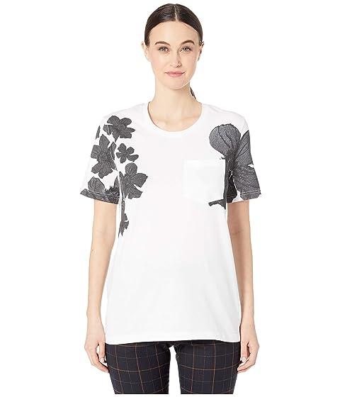 Neil Barrett Placed Flower Print T-Shirt