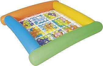 Bestway 52240 - Alfombra de Juegos Hinchable Friendly Animals 132x132x23 cm