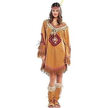 chiber Disfraces Disfraz de India Navajo Mujer Adulta (S - Pequeña ...