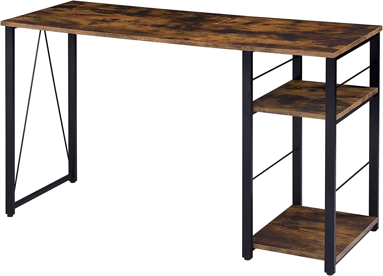 Acme Regular store Furniture Vadna Writing 2021 model Desk Oak Rustic and Black