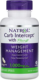 Natrol Carb Intercept with Phase 2 Starch Neutralizer, 60 Capsules