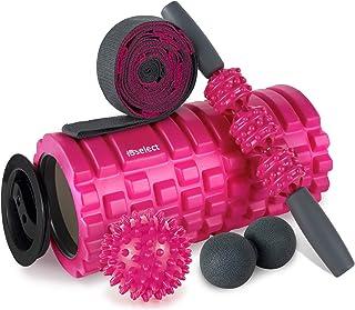 Foam Roller 2-in-1 spiermassage roller 5-delige fitnessset voor diepe weefselspiermassage, massagesticker twee massageball...