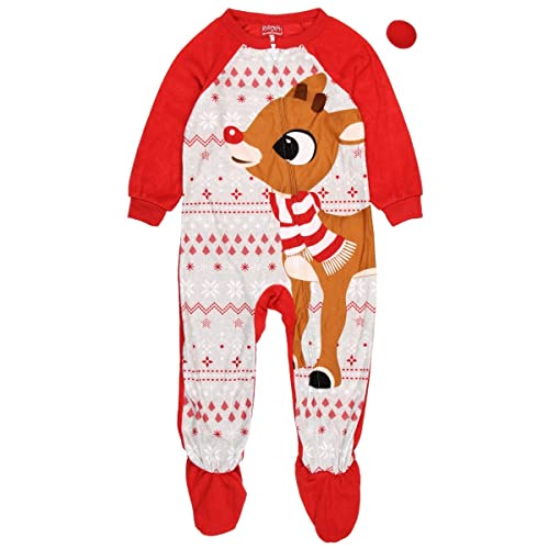 b676843377 Rudolph the Red Nosed Reindeer Christmas Holiday Family Sleepwear Pajamas  (Adult Kid Toddler