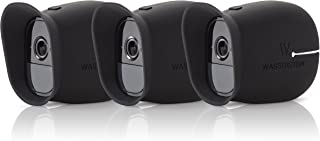 3 x Silicone Skins for Arlo Smart Security - 100% Wire-Free Cameras by Wasserstein (Arlo Pro, 3 x Black)